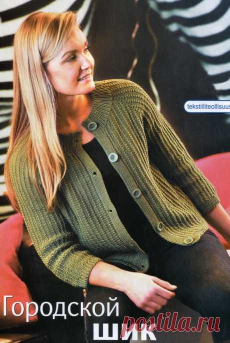 Вязаная кофта спицами для полных Реглан большого размера Жакет стильный 50 размера Кофта женская вязаная спицами Жакет всех размеров Кофта с воротником Жакет с ажурными планками Жакет без пуговиц Жакет короткий Жакет полным. Описание вязания