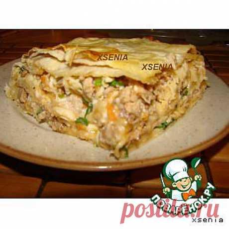 Мясной пирог из лаваша - кулинарный рецепт