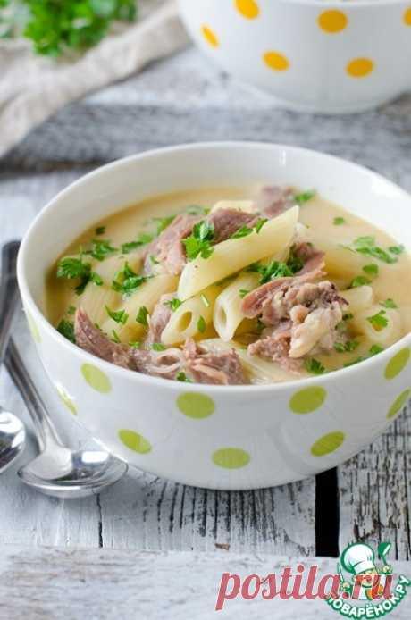 Куриный крем-суп с макаронами Кулинарный рецепт