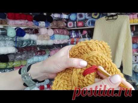 Подробно о желтом свитере . Про поля шляпки и многоцветный жаккард .