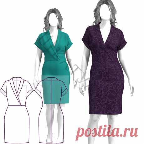Выкройка трикотажного платья WD240120   Шкатулка