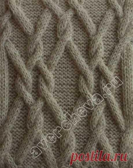 Узоры из кос , жгуты, ромбы, косы с ажуром | каталог вязаных спицами узоров