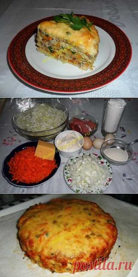 Cabbage cake. We grow thin tasty!\u000d\u000aGentle, appetizing, low-calorie and very tasty.