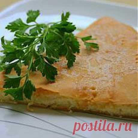 Осетинский пирог с сыром и творогом