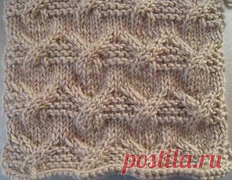 Узор с жгутами в комбинации с платочной вязкой | Вераша - о вязании в деталях | Яндекс Дзен