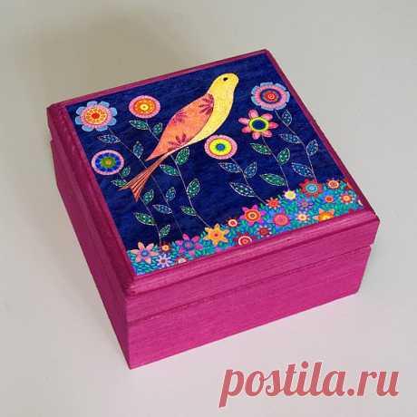 Шкатулочка с птичкой - $22.99 USD
