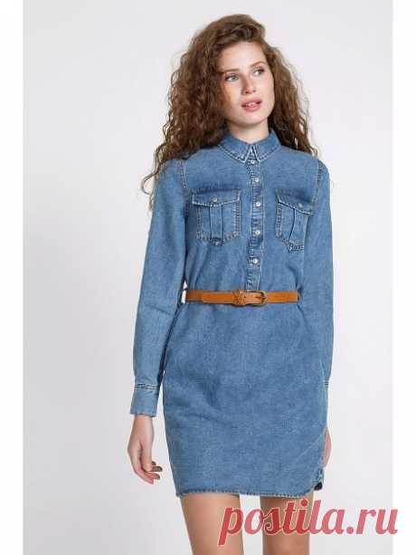 Джинсовые платья 2020 (184 фото): модные новинки, с кружевом, с открытыми плечами