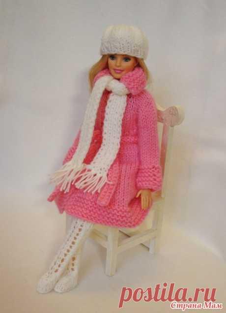 Вяжем вместе зимний наряд для Барби - Гардероб для куклы - Страна Мам