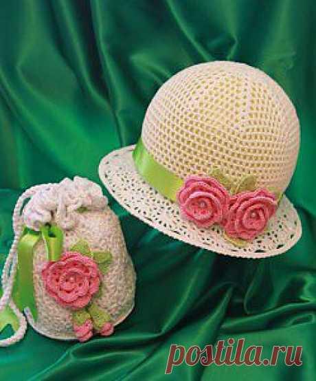 """Шляпка """"Маленькая леди"""" -конкурсная работа   Вязание крючком, схемы вязания."""