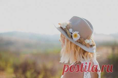 Как украсить шляпу цветами (DIY)