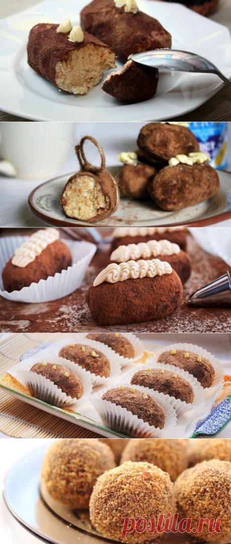 Пирожное картошка в домашних условиях - рецепты из сухарей, бисквита и печенья. Как сделать пирожное картошка своими руками?