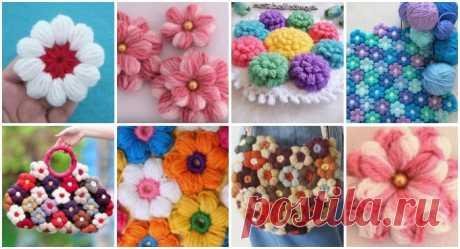Como fazer flor de lã passo a passo de forma fácil e simples - Criativo Ok