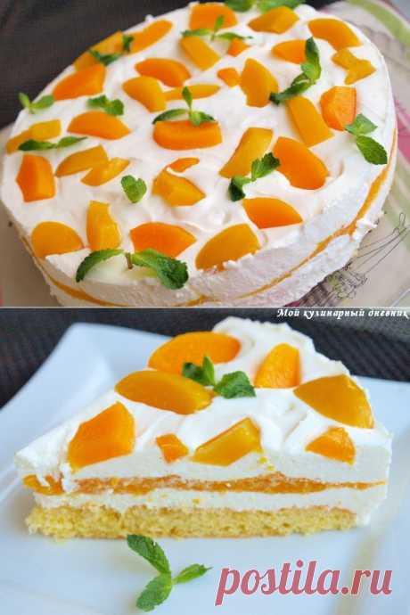 Персиковый торт с муссом из шампанского.