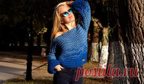Купить женский свитер крупной вязки ручной работы - Asivia