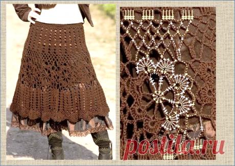 14 моделей длинных юбок, связанных крючком - модели+ схемы - в копилку мастериц   МНЕ ИНТЕРЕСНО   Яндекс Дзен