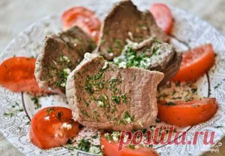 La carne de vaca cocida al vapor en la multicocción - la receta de la foto en Повар.ру