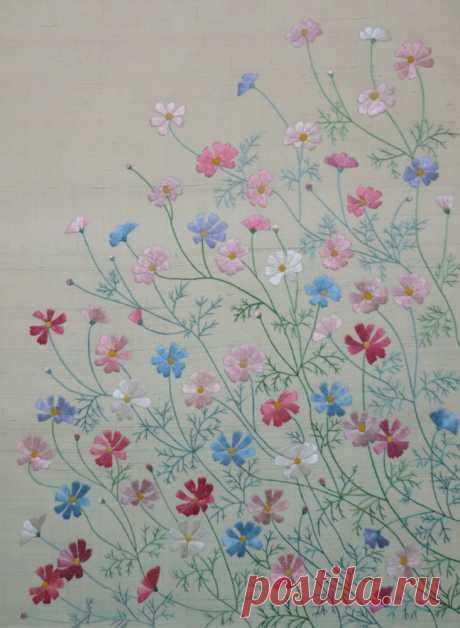 Необыкновенная красота японской вышивки – Ярмарка Мастеров