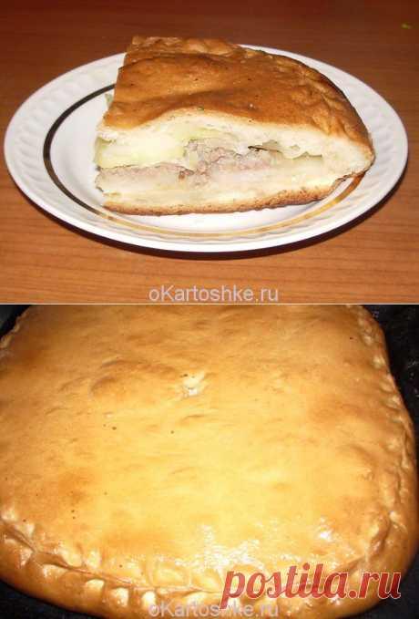Пирог с картошкой и фаршем | Готовится пирог очень быстро, тесто можно использовать любое, которое делаете на пироги или пирожки, главное, не сладкое. Начинку использовать любую, не только картофельно-мясную, капустная идеально подходит или ливерная.
