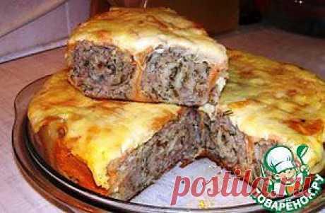 Пирог из тонкого лаваша с фаршем в мультиварке - кулинарный рецепт