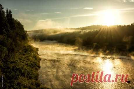 El río Vilva, el territorio de Perm. El autor de la foto: Alejandro Chazov.