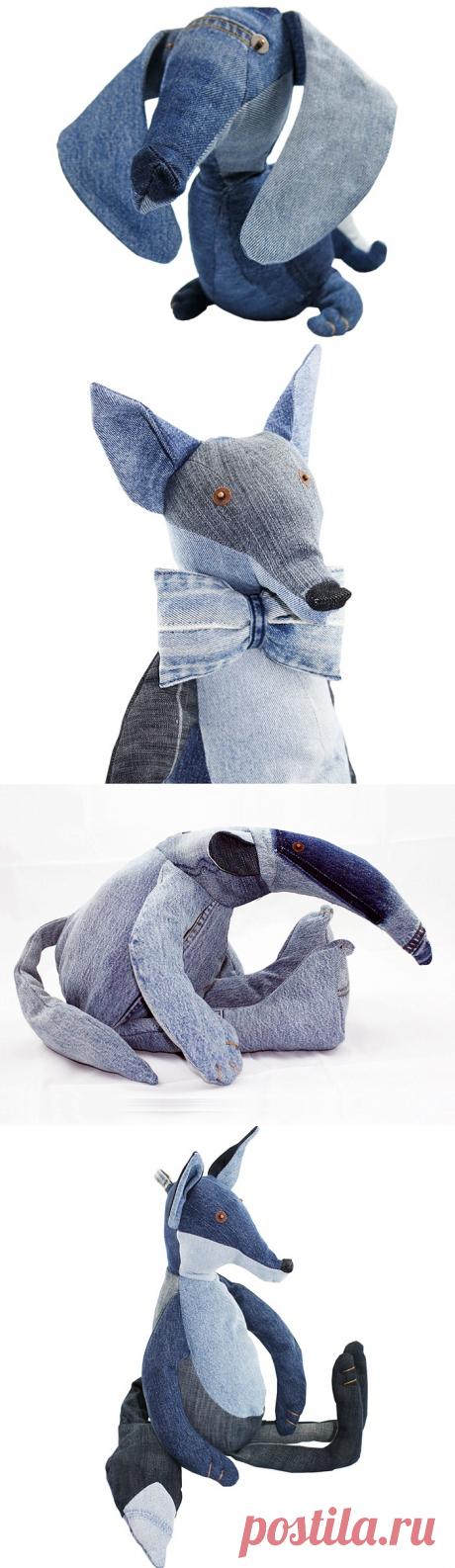 Зверушки из джинсов от Maison Indigo / Переделка джинсов / ВТОРАЯ УЛИЦА