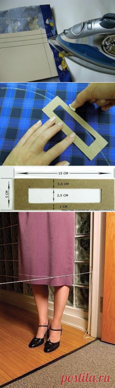 Подборка полезных секретиков для тех, кто шьет