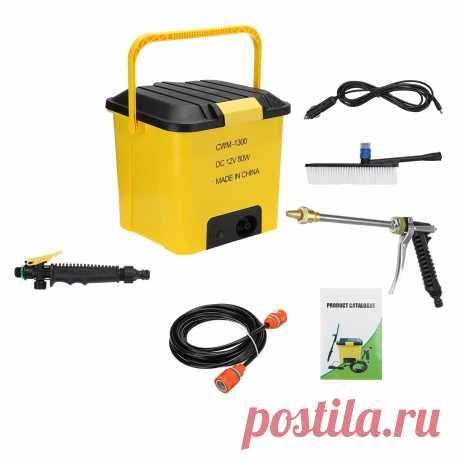 35l 12v 4000r/min car washer high pressure self priming water pump tank kit Sale - Banggood.com