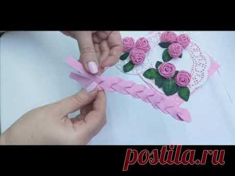 DIY 🌹 Розы из фоамирана за 2 минуты 🌹 Rose in 2 minutes