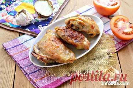 Куриные бедра запеченные в духовке: рецепт с фото | InfoEda.com