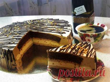 Coffee and chocolate cake |