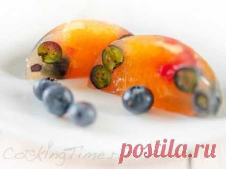 Orange and Grapefruit jelly with Berries | CookingTime.ru