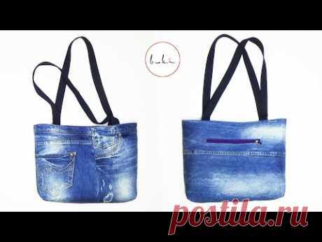 Изготовление джинсовых сумок