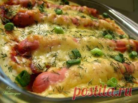 Любимое блюдо детей и взрослых — Картофельная запеканка с сосисками и сыром