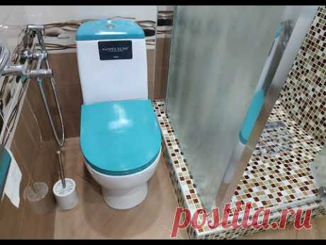 Интересный Дизайн Маленькой ванной 3 м.2 Совмещенной с Туалетом