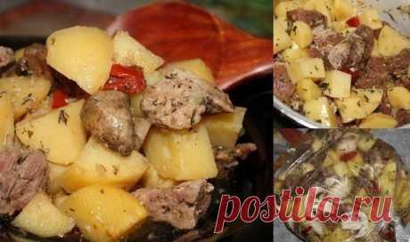 Мясо с картофелем в рукаве — беспроигрышный вариант