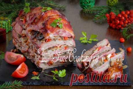 Слоеное мясо Изумительно вкусное, эффектное, нежное и ароматное слоеное мясо, приготовленное вот таким необычным образом гарантированно сразит ваших гостей, обещаю.