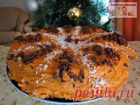 Шоколадно-медовый торт «Спартак»