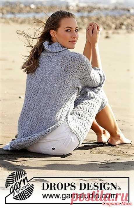 Свитер оверсайз Beach Breeze. Спицы. - ВЯЗАНАЯ МОДА+ ДЛЯ НЕМОДЕЛЬНЫХ ДАМ - Страна Мам