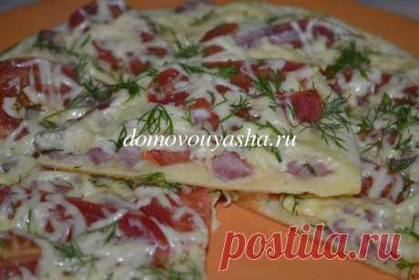 Пицца на сковороде за 10 минут: рецепт на майонезе со сметаной | Народные знания от Кравченко Анатолия