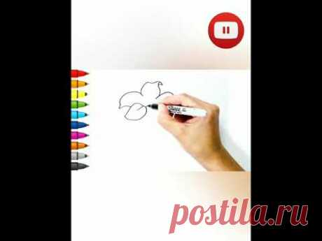 Как нарисовать цветок 🌺 #shorts