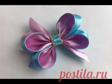 Ornament on Kanzasha's hairpin \/ the Pink-blue bow