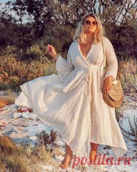 Платье Бохо - Шик для женщин за 50. Красиво. цветочная вышивка Модно. Комфортно.