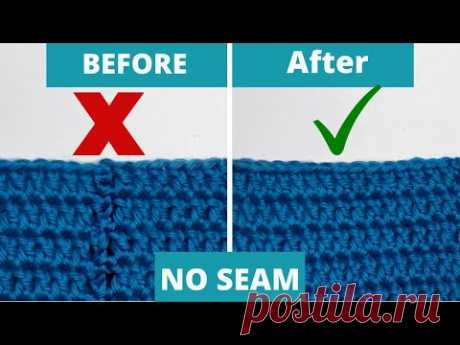 GO SEAMLESS!! Crochet Invisible join the easy way.