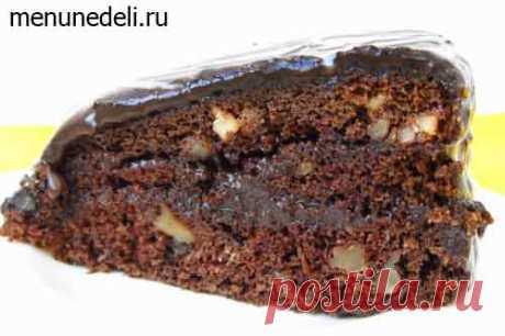 Шоколадный торт с грецкими орехами / Меню недели