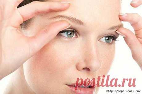 Как подтянуть веки и кожу вокруг глаз без операций.