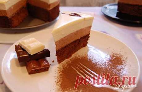 Торт «Три шоколада» : Торты, пирожные