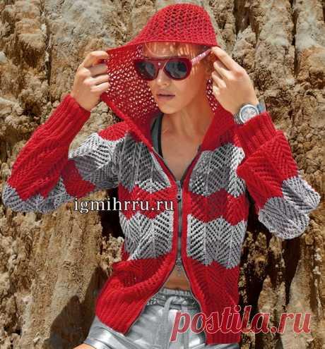 Удобная свободная летняя куртка из хлопковой пряжи