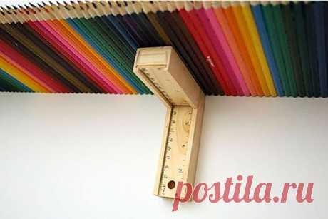 Несколько наборов цветных карандашей дизайнер Доминик Вилкокс (Dominic Wilcox) трансформировал в полку.