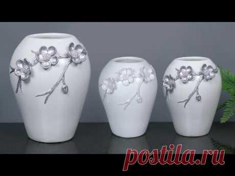 Flower Vase making    Cement flower vase - Paper flower vase making