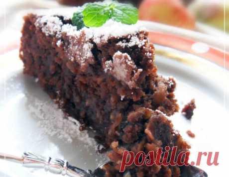 Шоколадно-яблочный пирог – кулинарный рецепт
